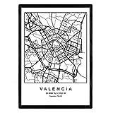 Nacnic Drucken Stadtplan Valencia skandinavischen Stil in