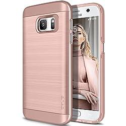 Coque Galaxy S7, OBLIQ [Slim Meta] [Or Rose] Étui de protection double couche Premium Slim Fit avec finition métallique Brush Finition avec couche absorbante TPU pour Samsung Galaxy S7