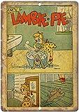 HERE YEARN Li'l Lambie Pie Comic Beware of Walking Dead en Métal Peint Moderne Décoration Murale Art Salle De Jeux Art Règles De La Maison en Métal Plaque De Rue, Affiche Art Plaque Salon Chambre