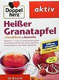 Doppelherz Heißer Granatapfel mit Vitamin C|Zur Unterstützung der normalen Funktion des Immunsystems|Plus Sanddorn und Acerola|3 x 10 Beutel