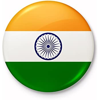 Buy Indian National Flag Fridge Magnet Circular 6 Cm