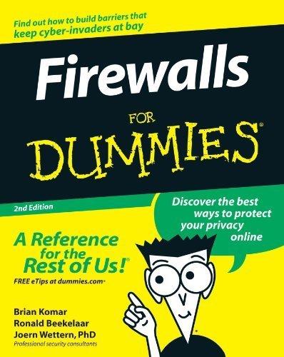 Firewalls For Dummies 2nd (second) by Komar, Brian, Beekelaar, Ronald, Wettern, Joern (2003) Paperback