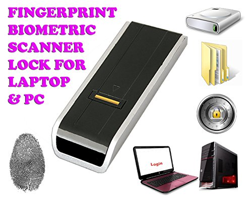 Gadget Hero's Security USB Biometric Fingerprint Scanner / Reader Password Lock for Desktop PC