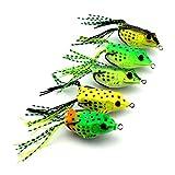Kongnijiwa Señuelo de la Pesca Set 5pcs 6cm 12g Anzuelo Gancho de Pesca del señuelo de la...
