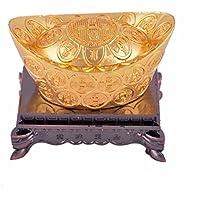 Feng Shui auspiciosos libre con lingotes de oro chino de la riqueza Mxsabrina rojo cadena de