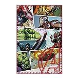 Marvel Comics - Avengers - Fleecedecke - Infinity War - Captain America - Iron Man - Hulk - Thor - 100 x 150 cm