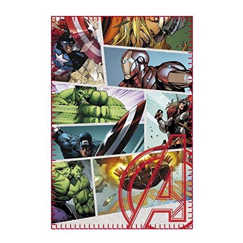 (Marvel Comics - Avengers - Fleecedecke - Infinity War - Captain America - Iron Man - Hulk - Thor - 100 x 150 cm)