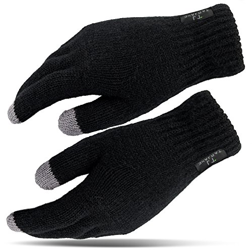 Damen Thermo Handschuhe mit Touchscreen Funktion Screen Gloves extra warm TOG 1.9 Schwarz OneSize