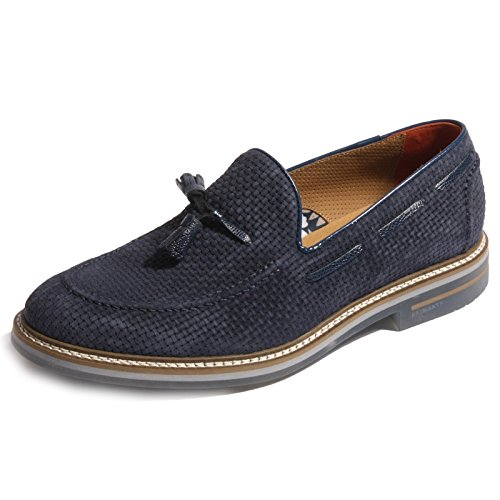 B0274 mocassino uomo BRIMARTS scarpa intrecciata blu shoes men [42]