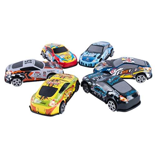 Xshuai 6,7 * 2 cm Cool Tough Alloy Mini Rennwagen Weihnachtsgeschenk 6-Car Geschenk Pack Auto Spielzeug (Kostüme Rennwagen)