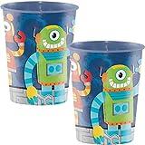 Unbekannt 8 Becher * LUSTIGE Roboter * für Eine Mottoparty Oder Kindergeburtstag // Party Geburtstag Robots Pappbecher Partybecher Cups