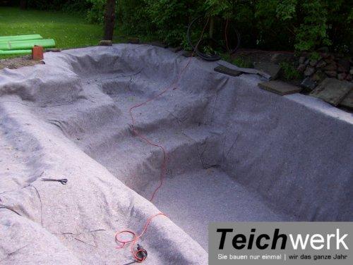 10 qm Teichvlies 300 g/qm | Premium Schutzvlies – 2 m breit x 5 m lang - 5