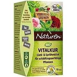 Naturen Bio Vitalkur Pflanzenstärkungsmittel zum gießen und sprühen für schädlingsanfällige Pflanzen mit Kräutermischung, 10 Pads