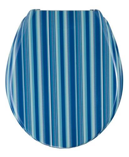 Wenko 17418100 WC-Sitz Change Strips – Edelstahlstahlbefestigung, Duroplast, blau