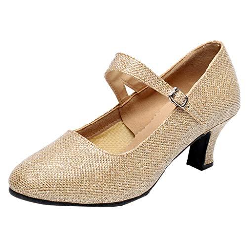 BaZhaHei Sommer Elegante Boho Vintage Damen Frauen Mode Retro Sommer Damenschuhe Sneaker Wedges Schuhe Outdoor-Sandalen Wilde Strandschuhe tragen Outdoor Strandschuhe (39, Gold)