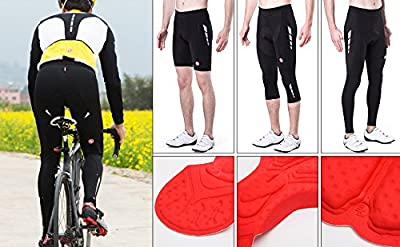 Souke Sports Mens Cycling Tights 3D Padded Legging Cycling Trouser Cycling Shorts & Cycling Capris & Cycling Long Pants