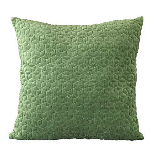 Time Concept Enrich Geometrisches Kissen aus Polyester-Baumwoll-Mischgewebe - Grün - Überwurf Couch-Kissen, Dekokissen, Sofa Kopfstütze, Home Decor Green - 24