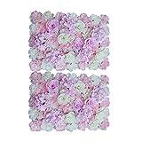 amleso 2Pieces Künstliche Blumen Wand Hochzeits Veranstaltungsort Dekor Rosa Weiß