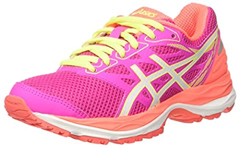 Asics Unisex Kids' Gel-Cumulus 18 Gs Sneakers, Pink (Pink Glow/White/Flash Coral), 2 UK