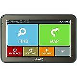 """MIO Spirit 7500 LM Navigationsgerät mit 5"""" Touchscreen, Lebenslangen Kartenupdates, Find My Car, IQ Routes, Parkhilfe, Spurführung, Ansage von Straßennamen uvm. - Gesamt EU"""