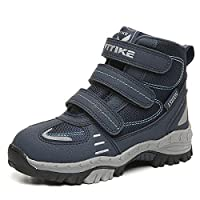 ASHION Hiking Shoes Comfortable Cilmbing Boots Boys Trekking Waterproof Snowshoeing Winter Walking Boots