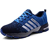 MUOU Zapatillas Deporte Hombre Zapatos de Entrenamiento para Hombre Malla Respirable Zapatillas Aptitud Ligero Deportes Zapatos para Correr