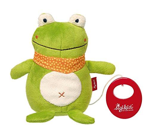 Sigikid 42129 Spieluhr Frosch, Grün, 16 x 17 x 8 cm