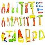 Voccoal - 34 piezas Kit de Herramientas de Reparación de Plástico Juegos de imitación Juguetes Educativo para Niños Bebé Niñas Infantil