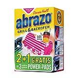 abrazo Grillreiniger & Backofen-Reiniger Reinigungs-Schwamm für Grill & Küche, verseifte Topfreiniger Pads 2+1 Gratis