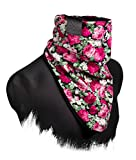Windbreaker (Black Roses) - Bandana, Halstuch mit Blumenmuster, Multifunktionstuch, Floral Schal, Jersey/Sweat, Tuch (M13)