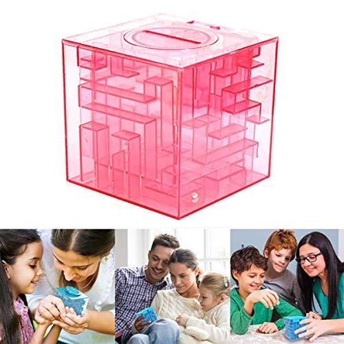 IHomiki Geld-Labyrinth Puzzle Box Einzigartige Geld-Geschenk-Halter-Kasten Fun Maze Puzzle-Spiele für Kinder und Erwachsene Geburtstag (Pink) (Geschenk Puzzle-box)