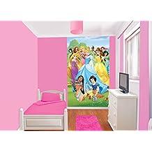Diseño de princesas Disney Póster de tela Mural de, Multi-color