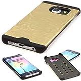Samsung Galaxy S6 Edge Handyhülle von Original Motomo Urcover® aus Aluminium Galaxy S6 Edge Schutzhülle Case Cover Etui [deutscher FACHHANDEL] Champagner Gold