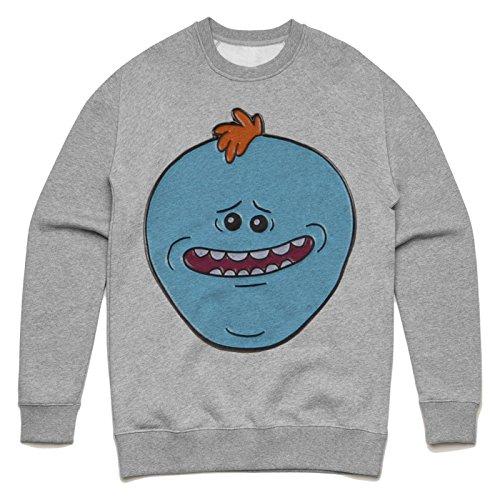 Meeseeks face Unisex Sweater Grau