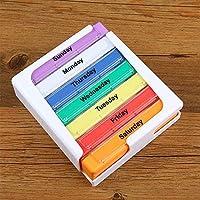 Medizin-Behälter, tragbar, 28 Fächer, sieben Farben, Medizin-Aufbewahrungsbox, Schublade, Medizin-Organizer 12.2... preisvergleich bei billige-tabletten.eu