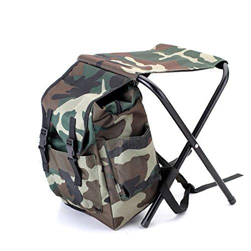 Preisvergleich Produktbild Rucksack mit Stuhl Anglerstuhl 32 x 28 x 32cm Camouflage Farben / BEKATEQ Campingstuhl klappbar Rucksackstuhl Klappstuhl Gr. M / Sitz- und Transportmöglichkeit Klapphocker Angeltasche