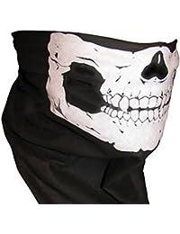 Esqueleto cráneo Bandana Snowboard Esquí motocicleta ciclismo RAVE máscara de Paintball, - Schwarz01