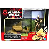 Star Wars 1999 Episode 1 The Phantom Menace Action Figure Vehicle - Invasion Force Armored Scout