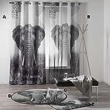 Kamaca - WILD Instinct - Elefant Africa (Motiv D : XL -Teppich 120 rund)