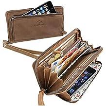 60000bbcadcc4 ALMADIH Damen Portemonnaie Avery Premium Rindsleder - 12 Kartenfächer