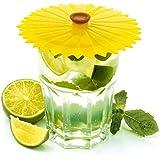 Charles Viancin 1105EU Sunflower Couvre-Verre Silicone Jaune 12 x 11,5 x 1 cm