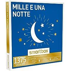 Idea Regalo - Smartbox - Cofanetto Regalo - MILLE E UNA NOTTE - 1375 soggiorni con possibilità di cena o momento relax in agriturismi e hotel 3* e 4*