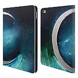 Head Case Designs Offizielle Mai Autumn Silber Mond Garten Weltraum Und Himmel Brieftasche Handyhülle aus Leder für iPad Air 2 (2014)