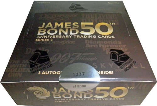 james bond 50th anniversary trading cards