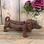 Antique Victorian Cast Iron Daschund Puppy Dog Heavy Shoe Boot Scraper Cleaner