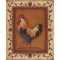 Nero Gallo by Lewis, Kim–stampa fine art disponibile su tela e carta, Tela, Black, SMALL (8 x 10 Inches ) - Folk Art Wall Hanging