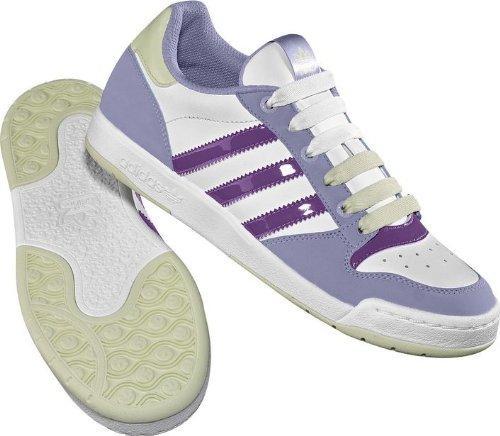 adidas Originals, Damen Sneaker, Weiß - Blanc/Violet/Mauve - Größe: 37