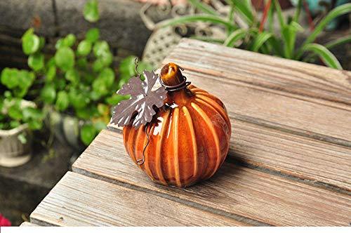 QAZWSX Bemalte Keramik Kürbis Dekoration Hausgarten Garten Garten Halloween Dekoration Ornament Geschenk@Rot