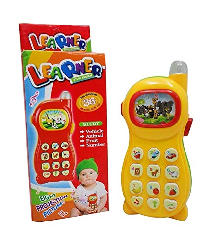 Toysale Learning Mobile Phone Toy for Kids with Image Projection, Multi Color (Learning Mobile Phone)