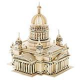 KESOTO Rompecabezas de Madera de Construcción DIY Puzzles Juguete de Manualidad para Niño Regalo - Catedral ISSA Kiev